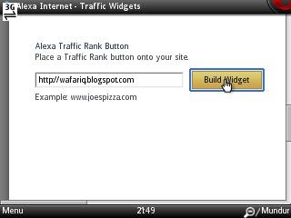 pasang widget alexa